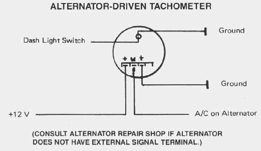 Alternator Driven Tachometer: 2 Inch Tachometer Wiring Diagram At Satuska.co